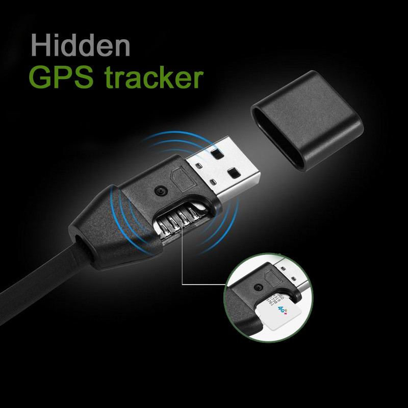 2017 Newst Hidden GPS tracker USB charging cable GPS position tracker gsm Quad Band (DW-G998)