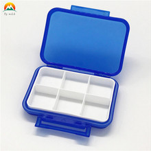wholesale 6 compartment pill box for Daily or Travel Use