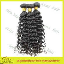 Super quality european virgin human hair/ deep curly wave hair