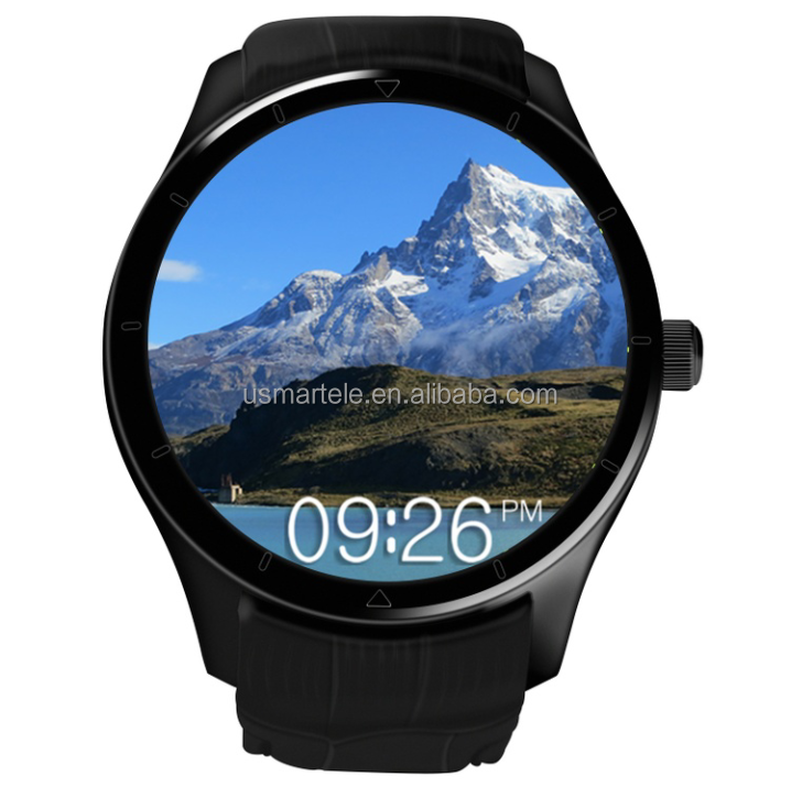Christmas 3g watch phone Q6 smart watch android round dial 1.39 Amoled smart phonbluetooth headphone and greek luanguage usmart