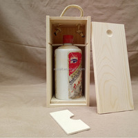 Custom new product wooden wine box with