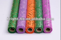 High quality gold/silver permed pattern non-woven wrap