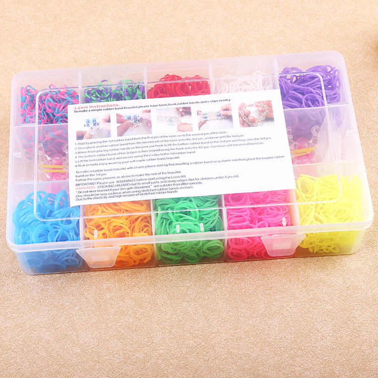 2000pcs Loom Bands Kit DIY education toy for kid & students