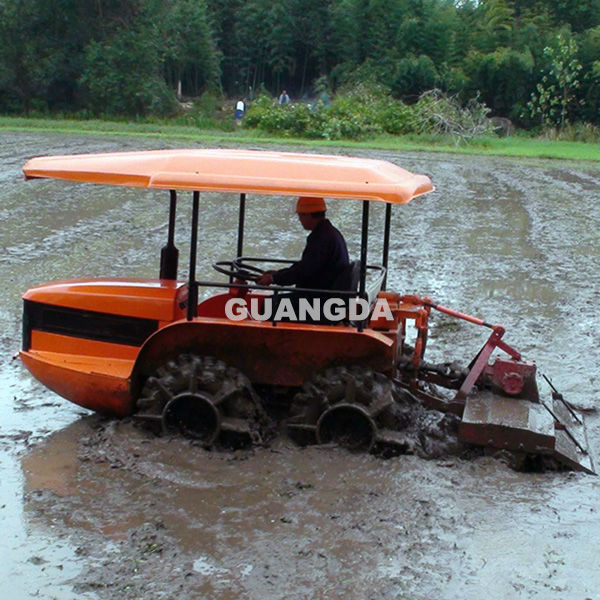 70hp 4wd China swamp tractor hot sale