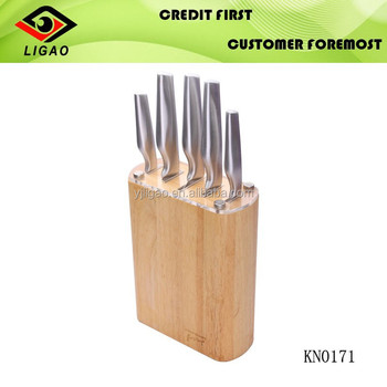 knifes set with wood block , hot selling and excellent quality