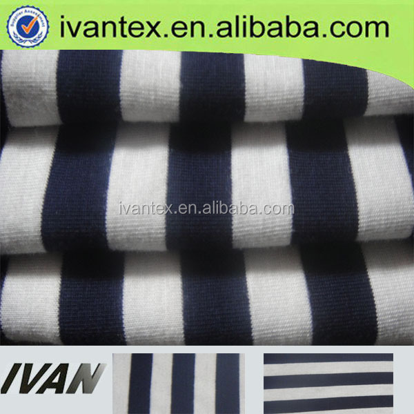 wholesale yarn dyed black and white stripe fabric