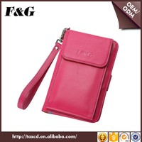 Brands China Pink Genuine Leather Wallets Man Woman Casual Card Holder