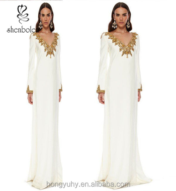 M40948 factory price african dubai fancy design kaftan beaded white embroidery Wholesale form clothing manufacturer