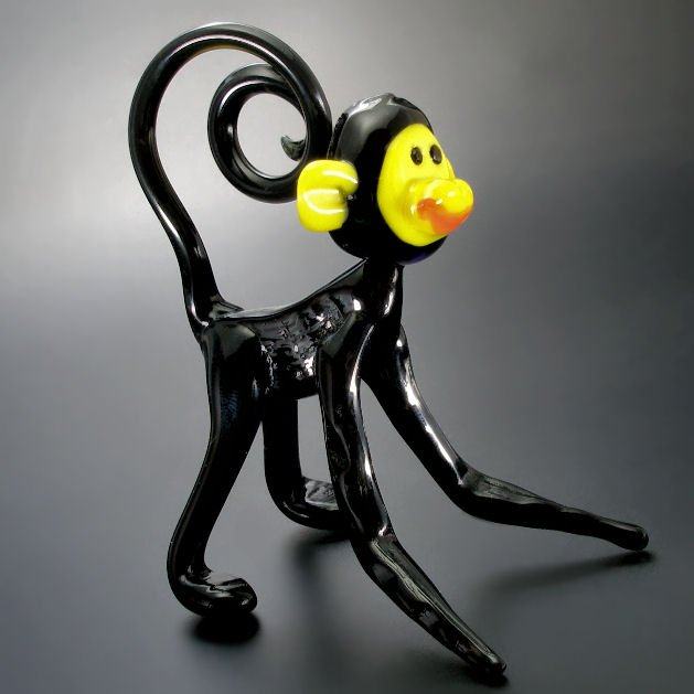 Glass figurine monkey
