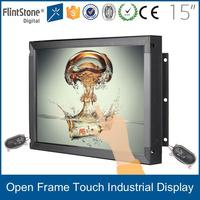 15 inch capacitive touch screen open frame lcd monitor with VGA input