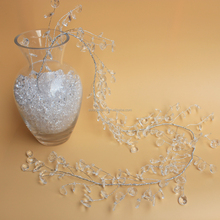 Fcatory Price 13*17MM Waterdrop Crystal Pendant Beaded Branch Spray Wired Stem Garlands for Marriage Decoration
