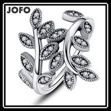Fashion Italian 925 Sterling Silver Jewelry Silver AAAZircon Setting Ring Silver Female Ring