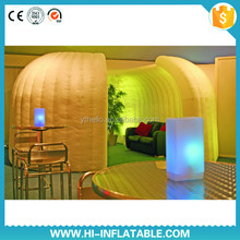 Delicate modeling /Scene Building /gentle and fragrant feel/ inflatable dome tent with LED