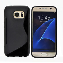 S line slim soft back cover TPU Gel mobile phone case for Samsung galaxy s7 edge