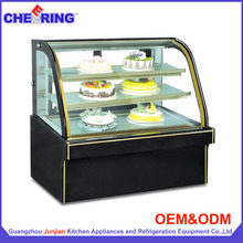 Luxury double arc shape cake cooler / cake chillers display