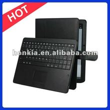 Touchpad Wireless Keyboard with Leather Case for Motorola Xoom2