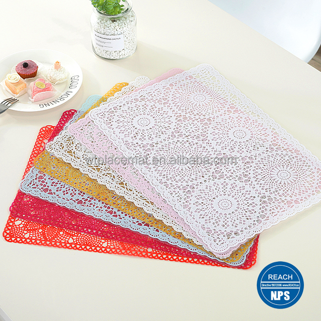 Eco-friendly Plastic Placemats Customizable table placemat