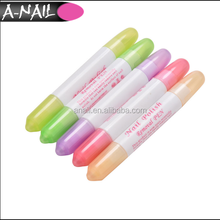 #POT-05 5 Colors Design Corrector Nail Edge Decoration Pen 13CM Polish Remover Nail Art Pen With 3 Tips