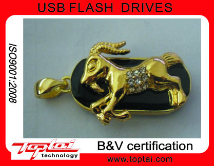 New Products Free Sample OEM Popuar 16GB Twelve Chinese Zodiac Capricornus Metal USB Flash Drive