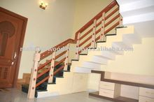 Luxury Wood Stairs Design, Modern Wood Stair, Decorative wood stair at Low rate
