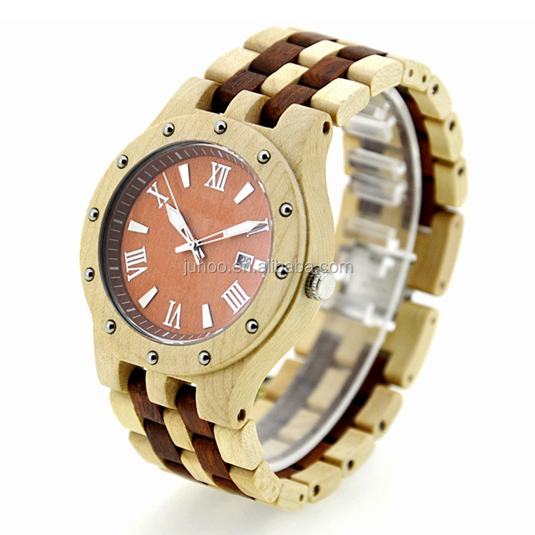 New style hot sale mix colors wooden watch Japan movt quartz wrist watch sport charm watch
