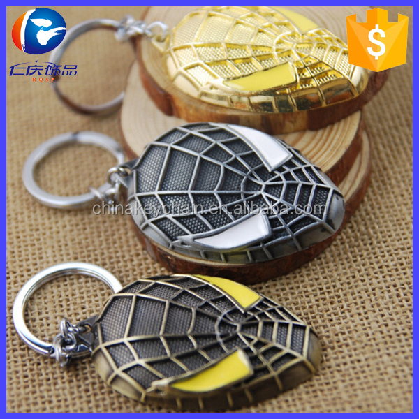 Promotional items movie character spider man keychains