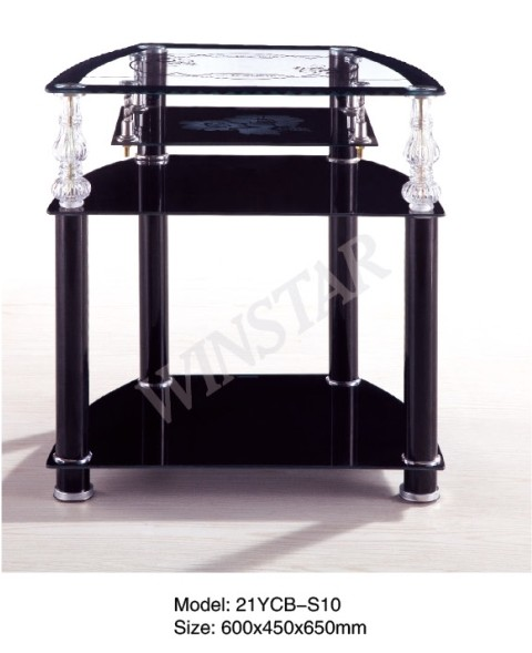 Living Room Tempered Glass Top Modern TV Table LCD TV Stand Table Factory Price