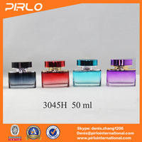 50ml 1.66 fl.oz mini car perfume bottle containers square fresh bottles used for car