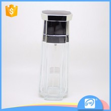 A473-90ML Strange shape nice looking suitable size glass perfume spray bottle wholesale
