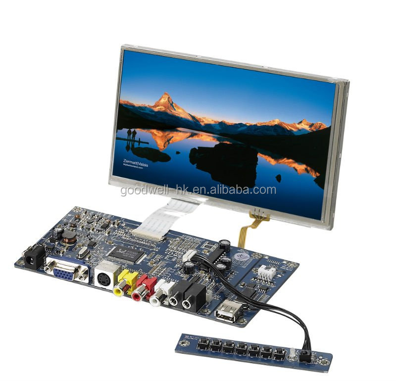 Touch AV/S-Video/VGA Input 7 Inch 480x 800 TFT <strong>LCD</strong> without Frame