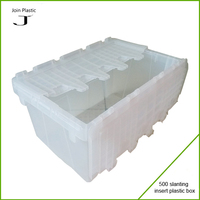 Plastic cake slice box