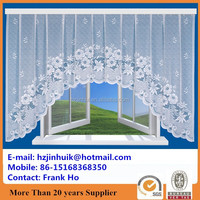 knit white lace window curtains models