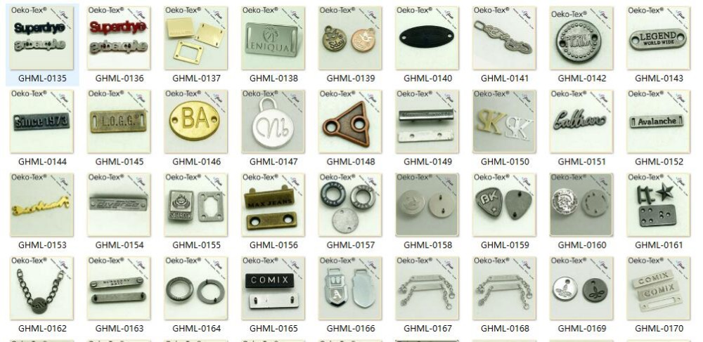 zinc alloy,Metal Material and Tag Type high speed metal label for swimwear