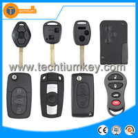 All brand 2 3 4 button car remote key blank case shell cover with logo and blade for Car remote key