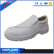 Food factory waterproof steel toe white safety shoes