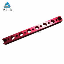 Top Supplier Custom Fabricated Precision CNC Milling Drilling Red Anodized Aluminum LED Hanging Parts