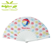 Foldable Promotional fabric Printed Wholesale Nylon Hand Fans