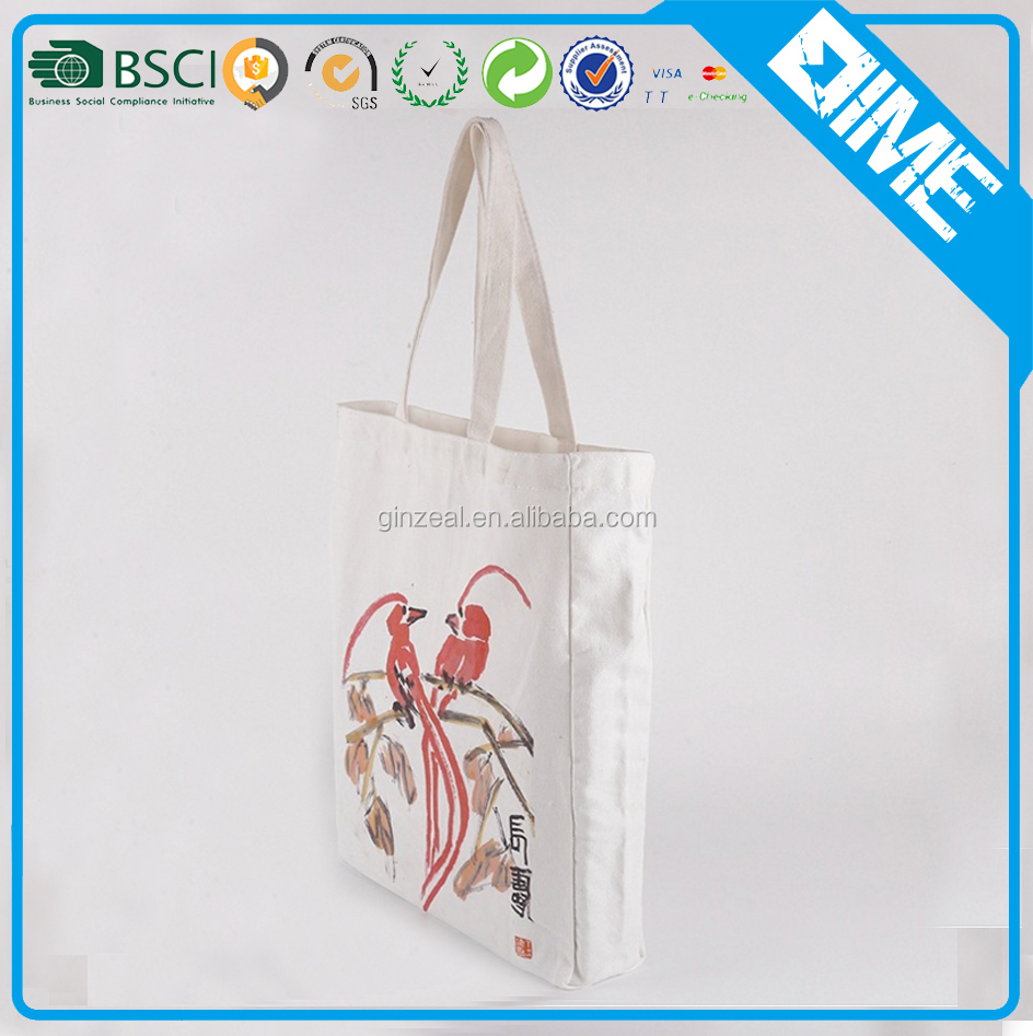 Reusable Recycle Carry Shopping Tote Calico Cloth Cotton Canvas Bag