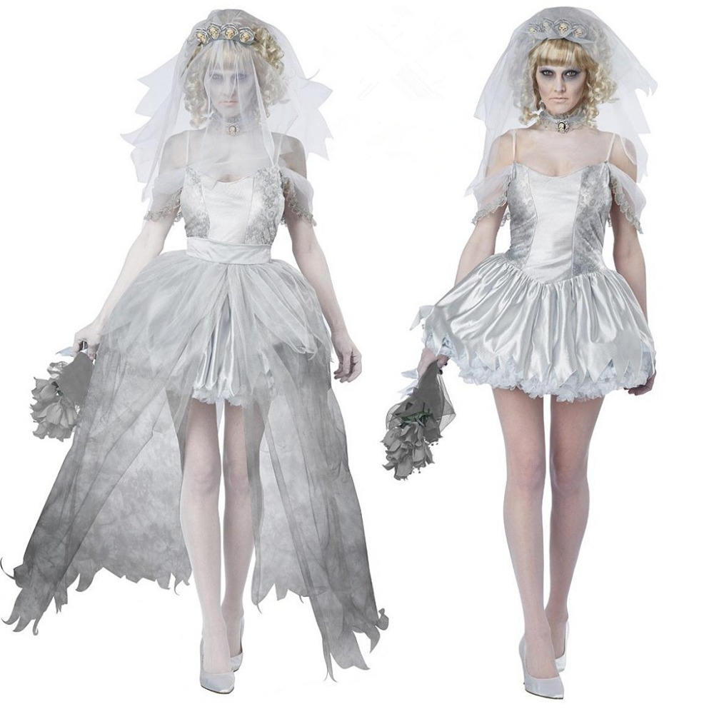get quotations the corpse bride cosplay wedding dress 2015 halloween costumes for women christmas carnival masquerade party dress