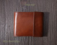 Personalized men's short leather wallet with coin pocket,men's bifold cow leather wallet,men's leather wallet wholesale