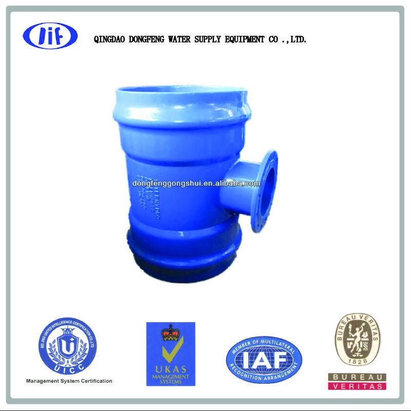 pvc double socket flange branch tee
