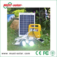 <Must Solar>Hot sale portable mini solar home system 30W with mobile solar charger