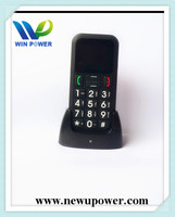 single sim dual standby senior phone old aged people mobile phone made in china sos phone for old people with cradle charger