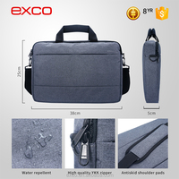 EXCO Fancy 14 inch Small Trolley 3 Compartment Laptop Bags Wholesale With Detachable Shoulder Strap