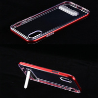 Ultra Thin Crystal Hybrid KickStand Clear Back Cover Case for new Apple iPhone x