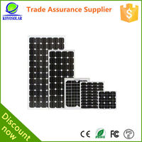 High quality Monocrystalline Silicon 40W Chinese solar panel material