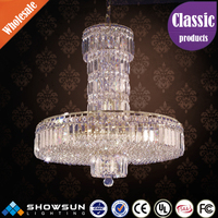 Guzhen custome made chrome commercial k9 crystal chandelier