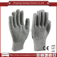 Seeway Leather Coated Glove Industrial Leather Hand Gloves