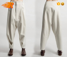 Woolen Trousers Casual Drop Crotch Harem Pants - Big Carrot Pants Hanging Crotch Pants Collapse
