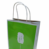 Recycled logo printed paper bags with handles wholesale